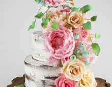 Semi Naked Cake with Sugar Flowers